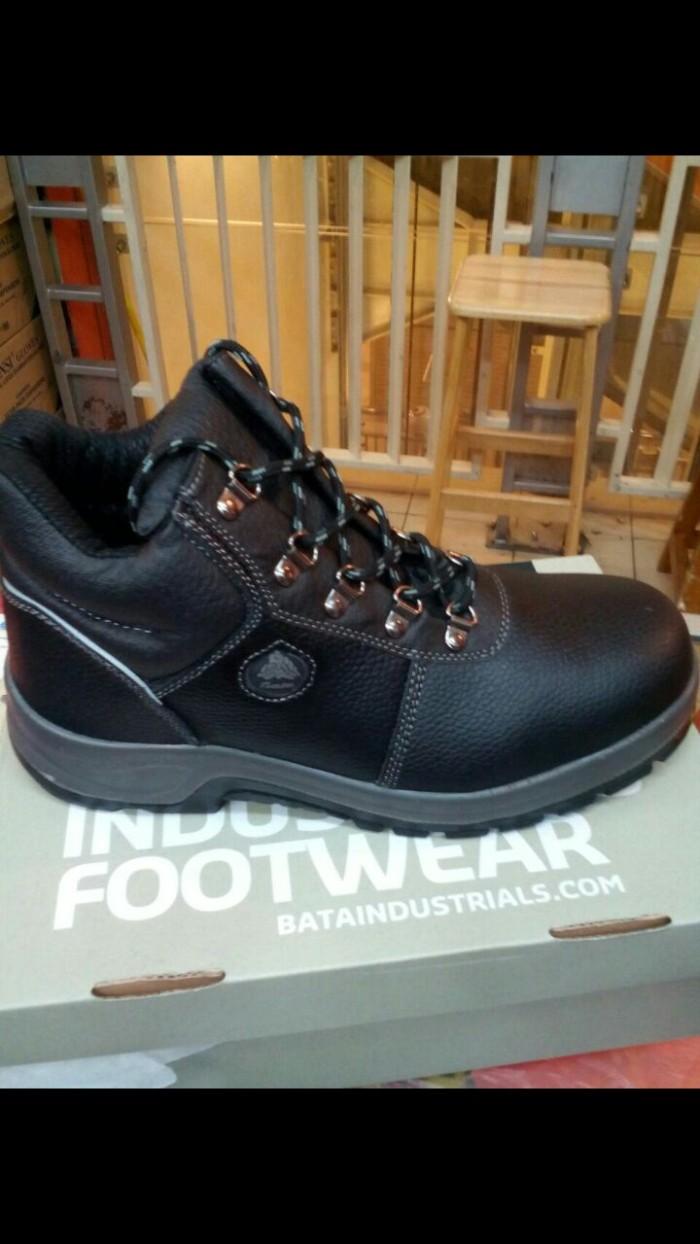 harga Sepatu safety merk bata/darwin black Tokopedia.com