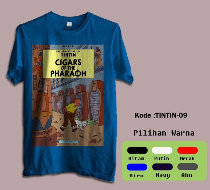 harga Kaos film kartun animasi tintin tshirt code tintin-09 Tokopedia.com