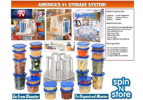 harga Smart spin and store wadah penyimpanan 49in1 toples unik n rak storage Tokopedia.com