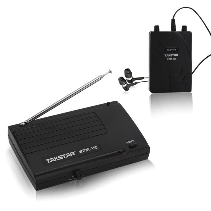 harga Takstar uhf wireless monitor 50m in-ear stereo  headphones - wpm-100 Tokopedia.com