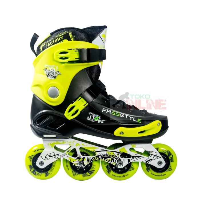 harga Sepatu roda freestyle frse one slalom inline skate - black green Tokopedia.com