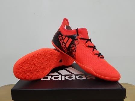 2956d587a494 Jual Sepatu Futsal Adidas X 16.2 Court Solar Red BB4157 - YuSport ...