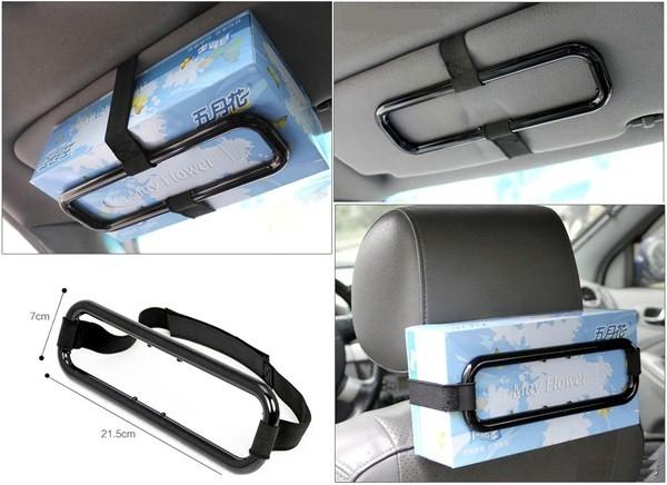 harga Car holder tissue penjepit gantungan tempat tisue tisu box kotak mobil Tokopedia.com
