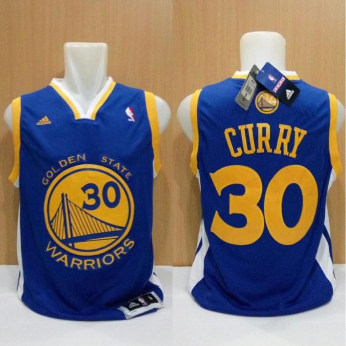 new concept fde18 ec32b Jual Jersey Basket Swingman NBA Golden State Warriors Stephen Curry Biru -  Kota Batam - Elite Basketball Store | Tokopedia