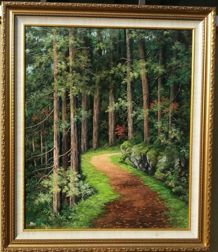 Jual Lukisan Pemandangan Hutan Kota Semarang Calista Glow