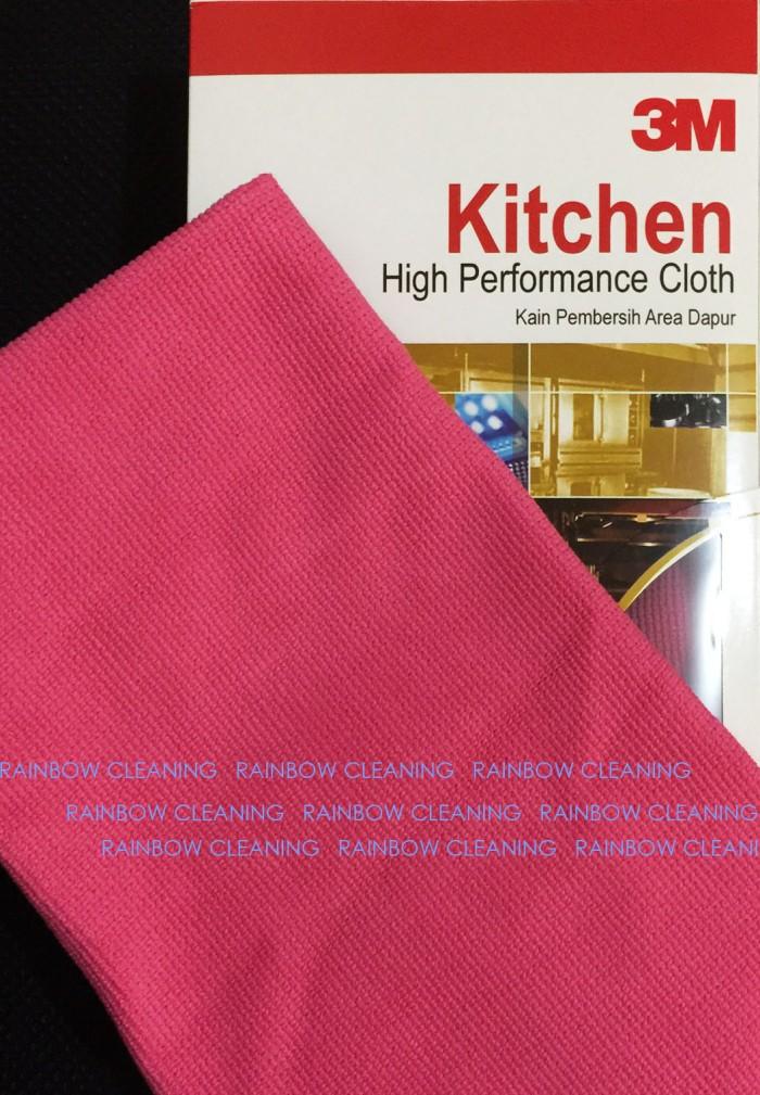 3M Kain Lap Microfiber - Kitchen High Performance Cloth Merah