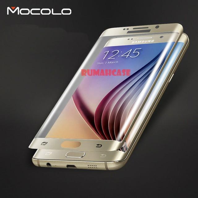 Anti Gores Kaca MOCOLO Full Tempered Glass Samsung Galaxy S6 Edge Plus .