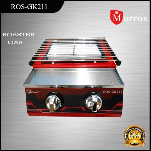 Kompor Panggang Tanpa Asap / Roaster Gas 2 Head Fomac Ros-gk211