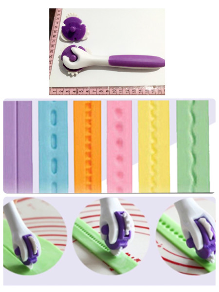 harga Wheel cutter roller alat pastry alat clay fondant icing sugar teksture Tokopedia.com