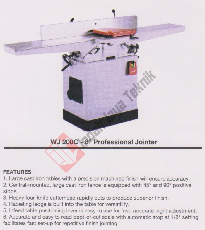harga Professional wood jointer oscar 8  wj-200c / mesin jointer Tokopedia.com