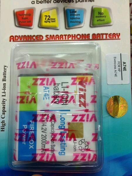 Baterai Battery Batre Vizz Evercoss A74E Winner T+ T plus Double Power