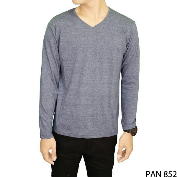 Tshirts lengan panjang pria spandek biru muda  pan 852