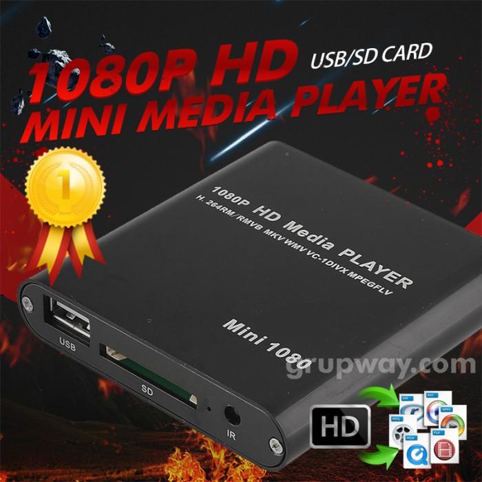 harga Black mini full hd 1080p digital media player-mkv/rm-sd/usb hdd-hdmi Tokopedia.com