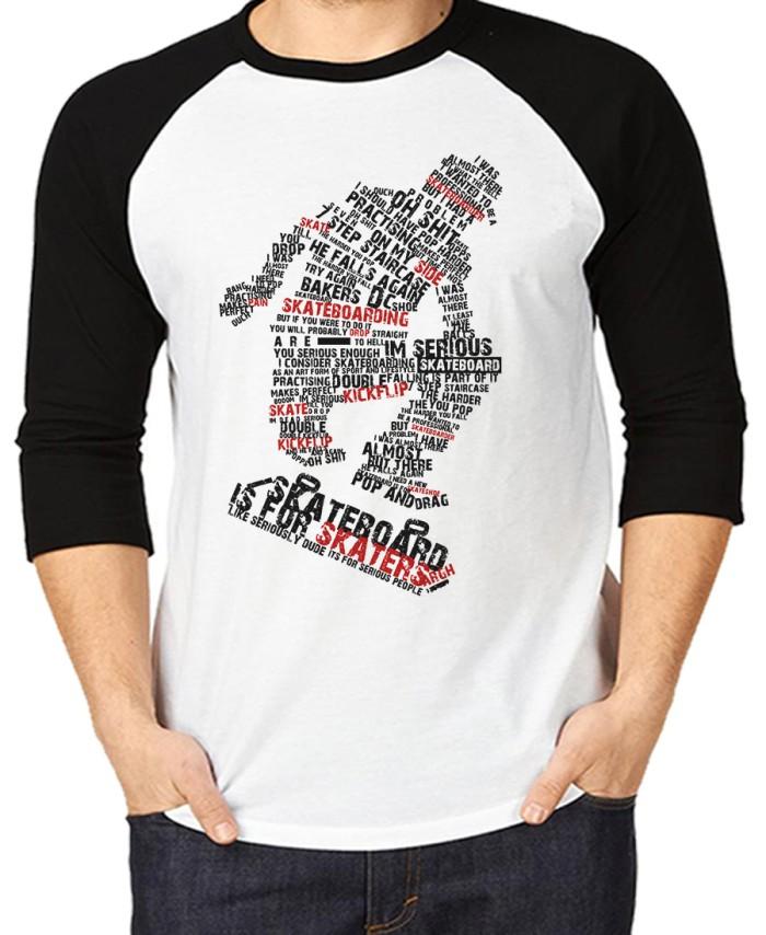 harga Kaos skaters/t-shirt raglan k48 Tokopedia.com