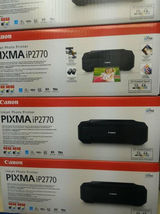 harga Printer canon pixma ip2770 inkjet (black) (bisa pasang infus) Tokopedia.com