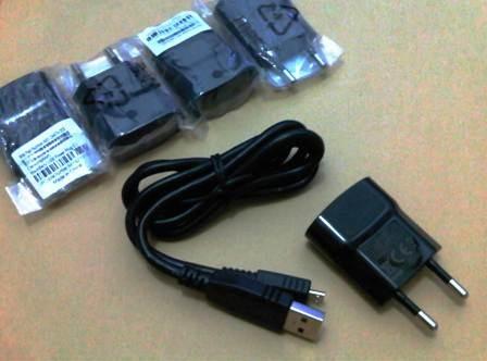 Foto Produk charger BB Micro USB model kabel data original RIM 100% / travel casan dari Buka Lapakpedia
