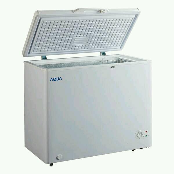 Chest Freezer 200 liter Sanyo / Aqua AQF 200 W