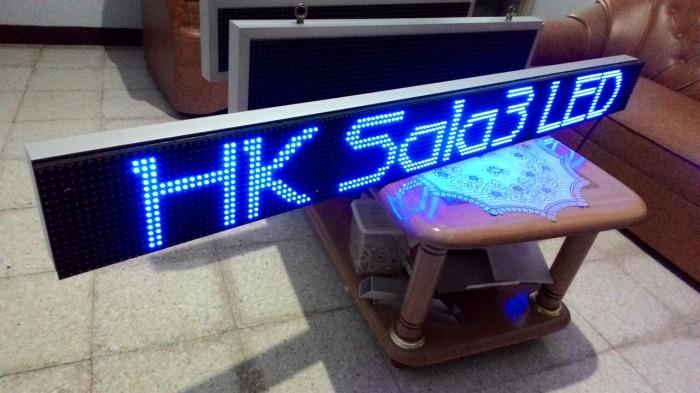 harga Running text outdoor 20x200cm led biru wifi Tokopedia.com