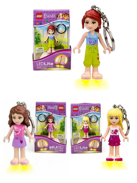 Jual Led Lite Keychain Lego Friends Mia Olivia Stephanie Key Chain