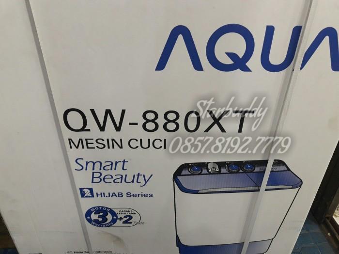 Promo Mesin Cuci Aqua QW-880 XT,New Model,hijab,8 kg,murah