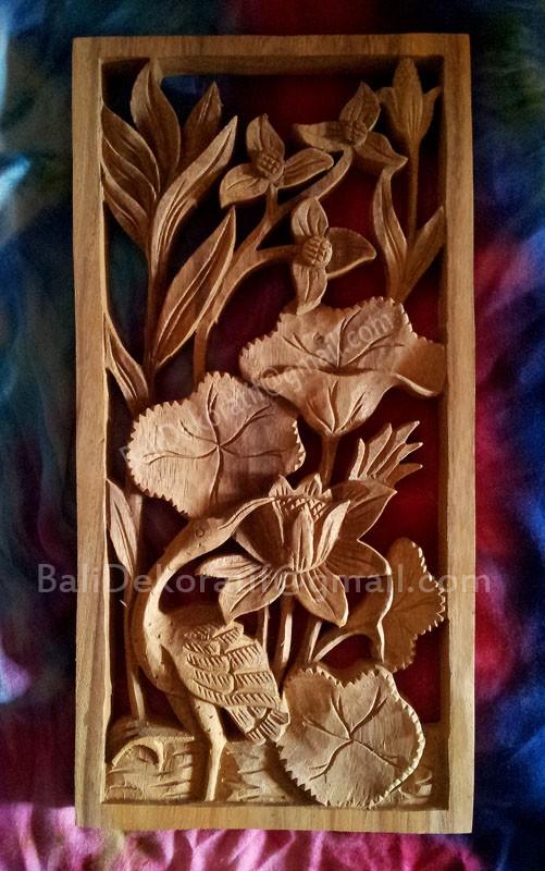 harga Hiasan dinding ukiran bali relief tema burung bangau di teratai Tokopedia.com