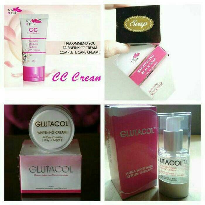 Paket Glutacol 30 gr + serum glutacol + Fair n pink