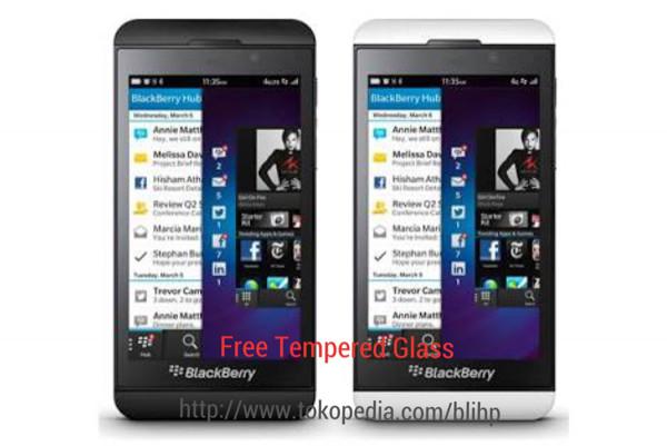 Blackberry z10 original (gsm) free tempered glass garansi 2 tahun
