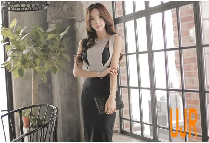 harga Gaun pesta (party dress) wanita model slim sexy tanpa lengan Tokopedia.com