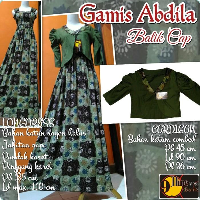 Jual Gamis Maxi Longdress Dengan Bolero Blazer Cardigan Outer Batik