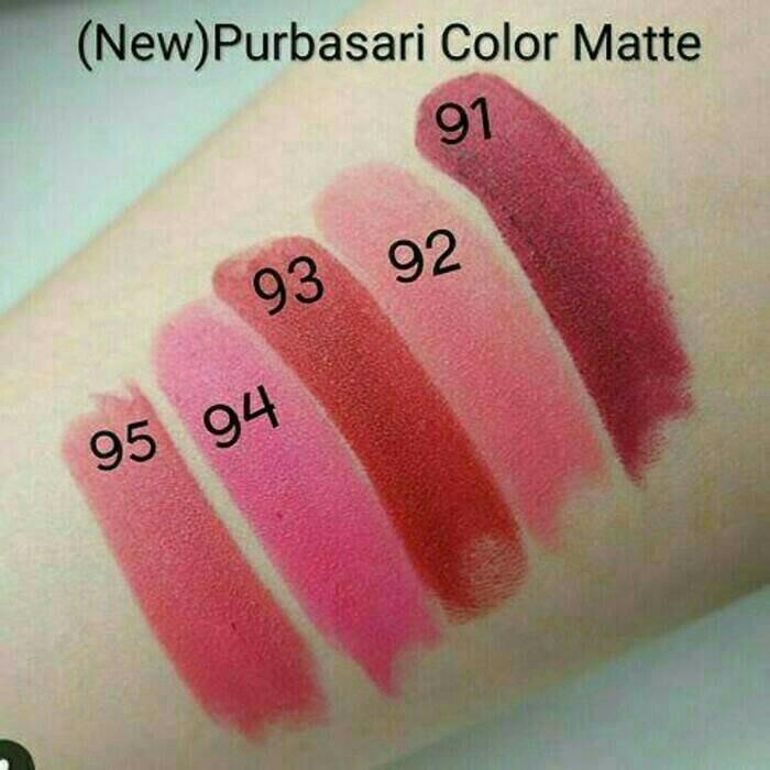 Lipstik Purbasari / Lipstick Purbasari Matte 91 - 95