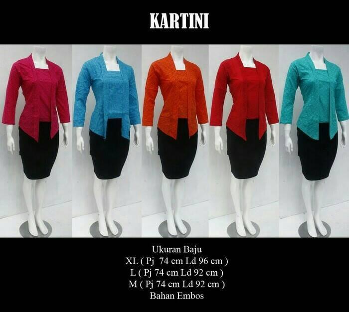blouse/bluss/batik/baju batik/batik embosse/blus embos/kartini/kebaya