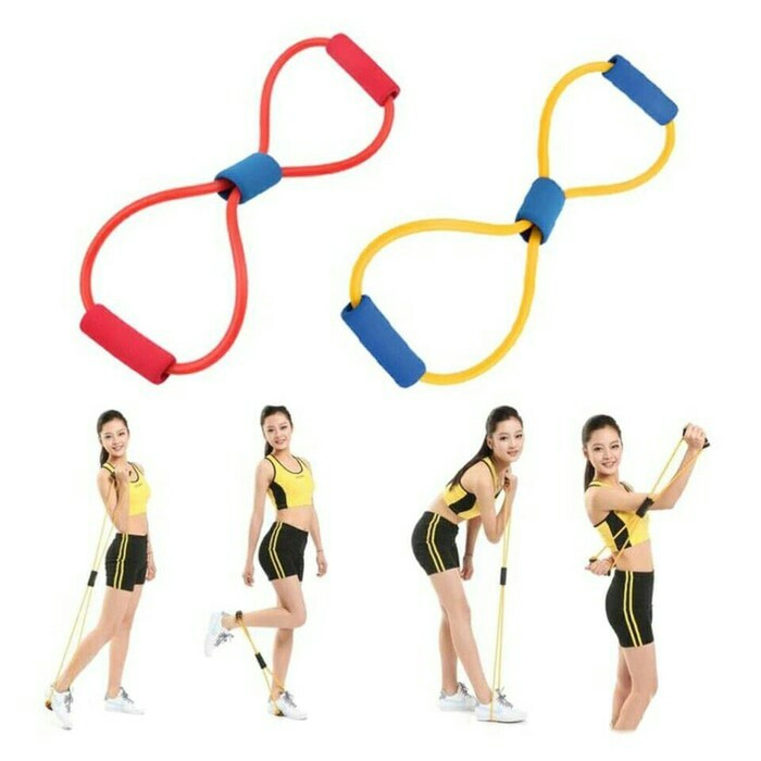 harga Pilates exercise resistance gym yoga karet tarik Tokopedia.com