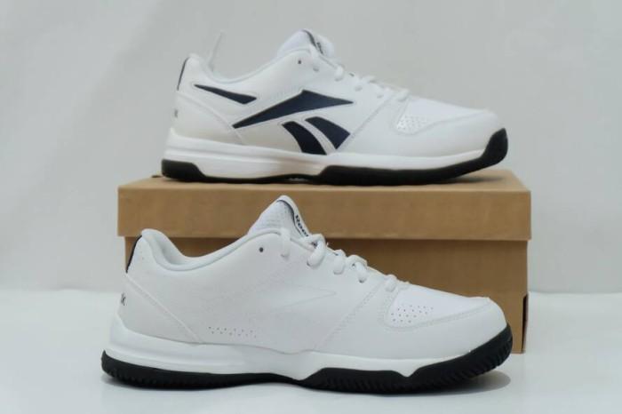 Sepatu Tennis Reebok Court Vision II LP Navy White Original Asli Murah 6b1ccd78f9