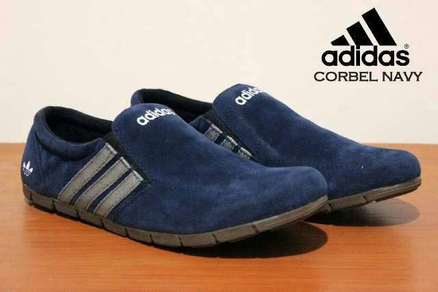 harga Sepatu santai adidas slop slip on casual pria kulit suede Tokopedia.com