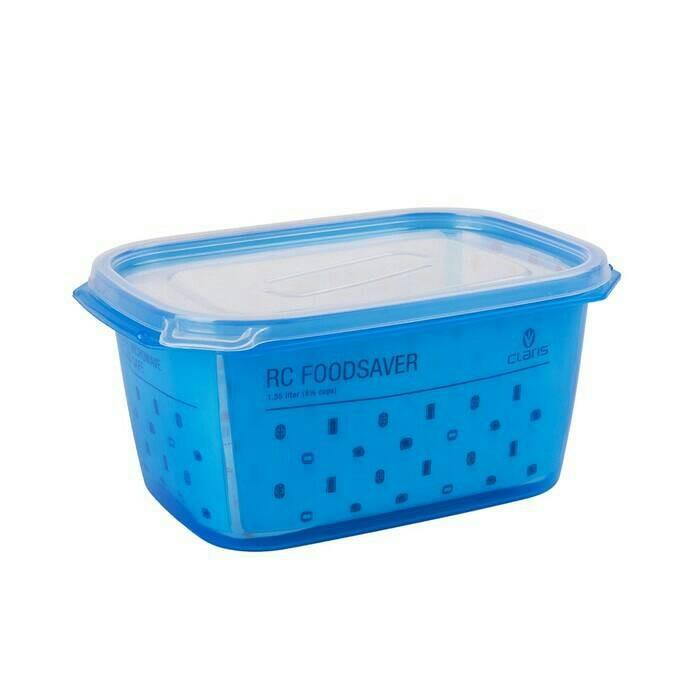... Claris Kotak Penyimpanan Makanan RC Foodsaver Blu 1350ml Persegi Biru