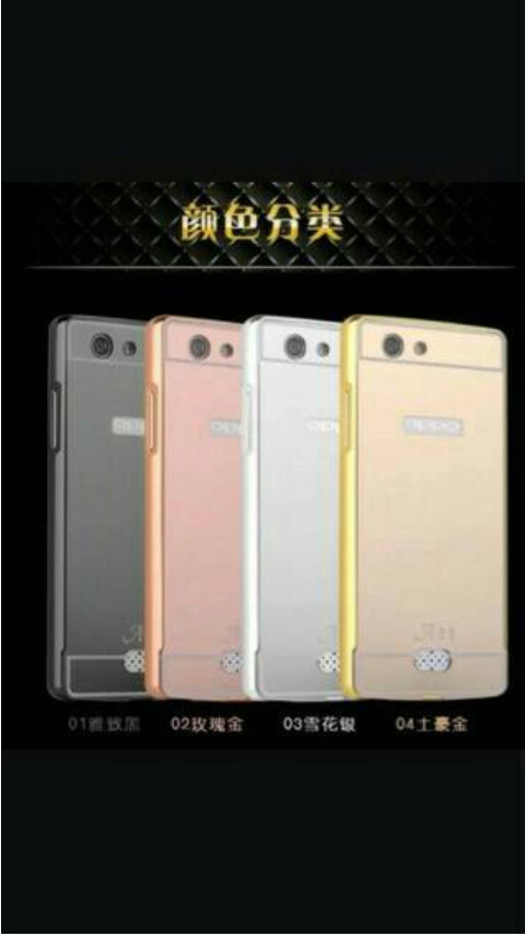 harga Oppo a31/neo 5 bumper hard case mirror aluminium with back case pc mir Tokopedia.com