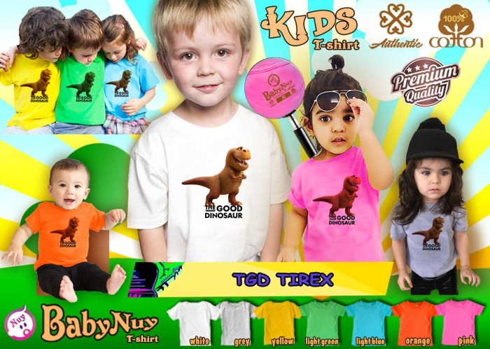 harga Kaos anak branded babynuy the good dinosaurus tirex Tokopedia.com