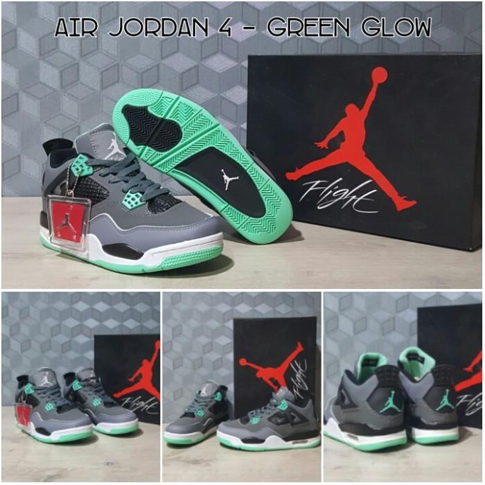Jual Sepatu Basket Nike Air Jordan IV AJ 4 Green Glow - Korionz Shop ... 9399b9b4da