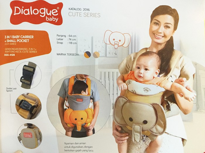 harga Dialogue baby gendongan depan ransel ergo cute 4128 Tokopedia.com