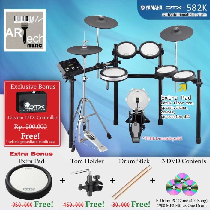 harga Drum elektrik yamaha dtx582k + extra pad / dtx582 / dtx 582 / dtx 582k Tokopedia.com