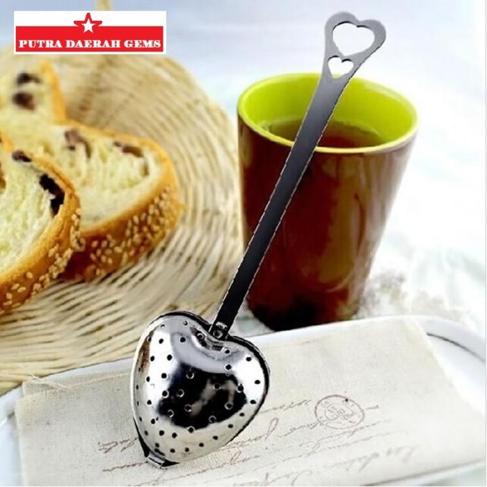 Heart tea infuser stainless / sendok saringan teh (kt-001) .
