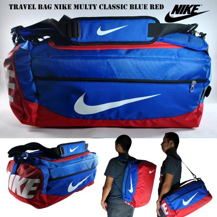 harga Tas multi fungsi travel bag 3 in 1 nike classic biru merah Tokopedia.com