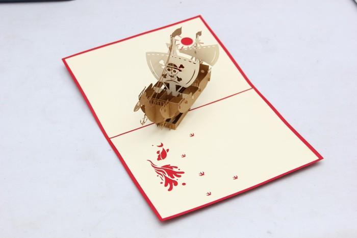 harga Kartu ucapan 3d birthday (going merry pop up card)   koleksi one piece Tokopedia.com