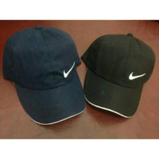 Jual nike navy black bordir baseball cap tumblr stuff topi custom ... 6fc6fedefc5