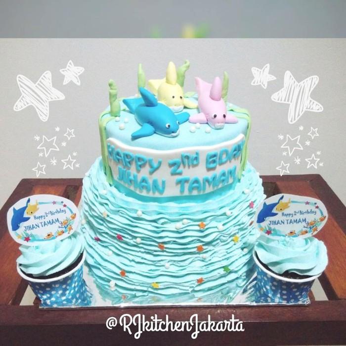 Jual Baby Shark Cake Rj Kitchen Jakarta Tokopedia