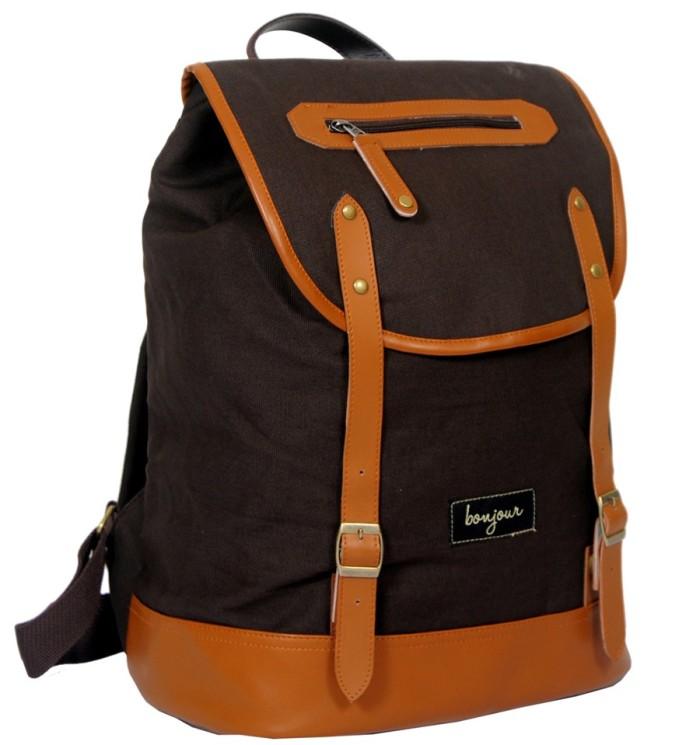 ... harga Bonjour leon - tas ransel backpack laptop canvas vintage branded  keren Tokopedia.com e26074d7e8