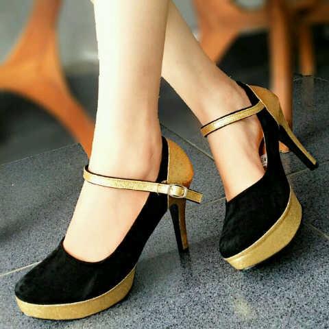 harga Spt dn01 s heels wanita bludru kode dn 01 s beludru wedges pantovel Tokopedia.com