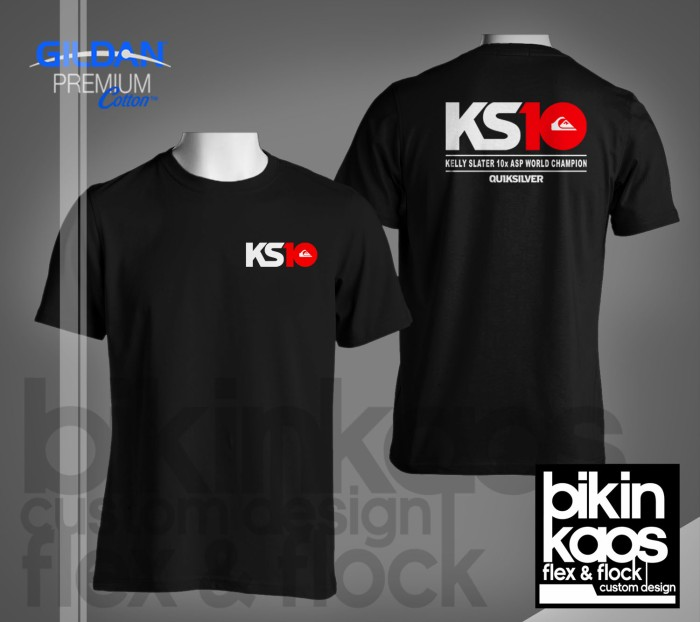 Kaos/tshirt/gildan premium/quiksilver/kelly slater/ks10/custom