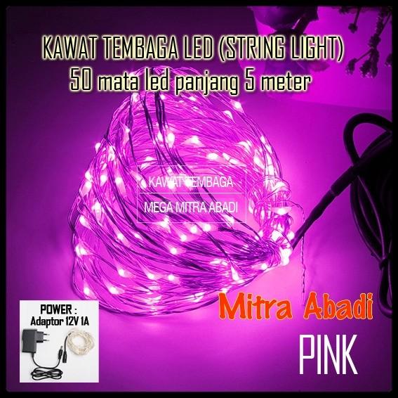 harga Lampu natal led kawat tembaga pink (string light led) 5 meter Tokopedia.com