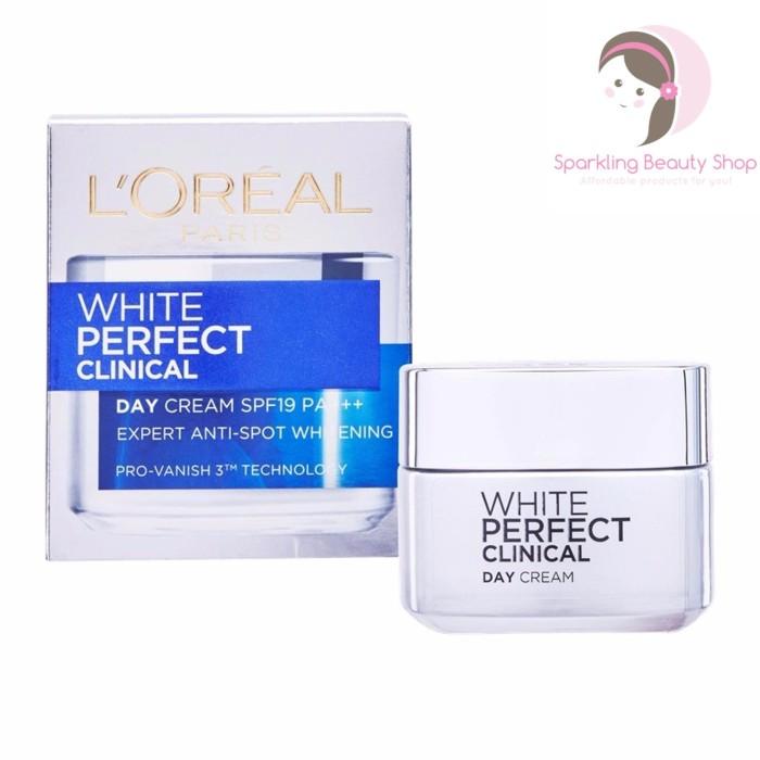 harga L'oreal paris white perfect clinical day cream spf19 pa+++ Tokopedia.com